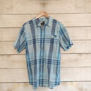 O'neill Short Sleeve Blue Button Down L